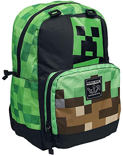 Minecraft Creeper Rucksack Multicolor JX9574, mincecraft, 37.7 x...
