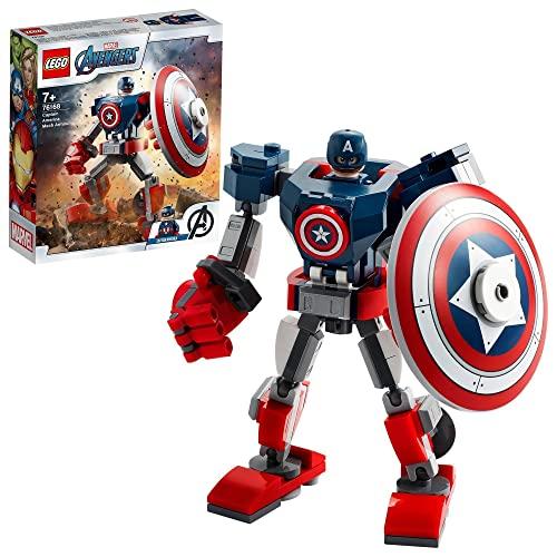 LEGO 76168 Marvel Avengers Captain America Mech Set, Actionfigur...
