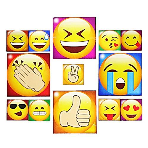 1a-becker 13 TLG Kühlschrank Magnete Set Emoji Smile Magnet...