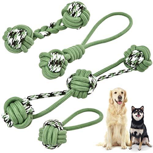 KaraLuna 4-teiliges Hunde Seilspielzeug I Für kleine, mittlere...