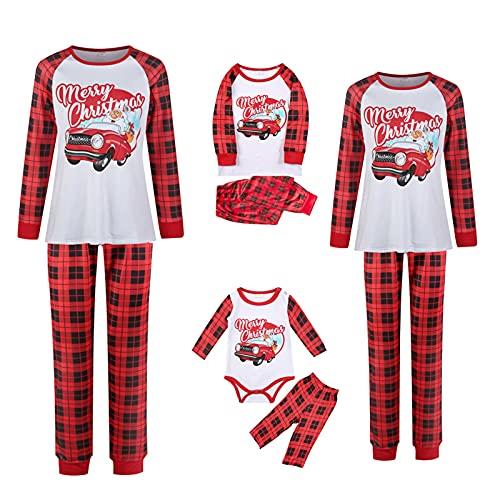 Christmas Pyjama-Family-Set Paar-Kinder-Baby-Kuschelig...