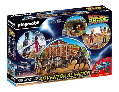 PLAYMOBIL Adventskalender 70576 'Back To The Future Part III', Ab...
