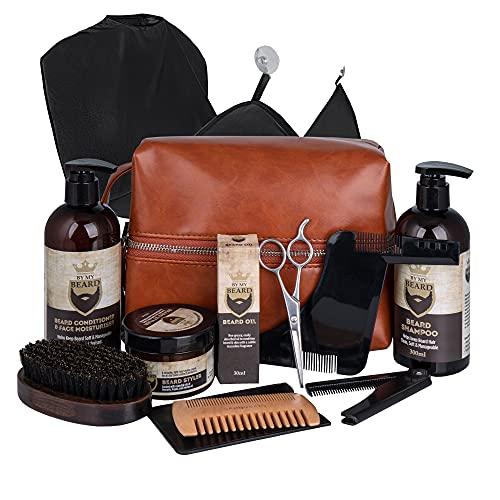 Bartpflegeset für Männer - Beard Growth Kit - Beard Oil, Beard...