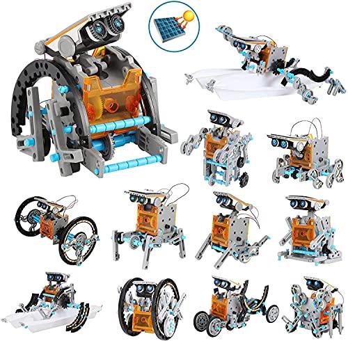 OFUN 12 in 1 Roboter Kinder Bausatz solar Lernspielzeug, STEM...