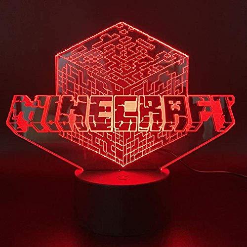 3D LED Nachtlicht, ecor Lampe mit Fernbedienung und Touch Control...