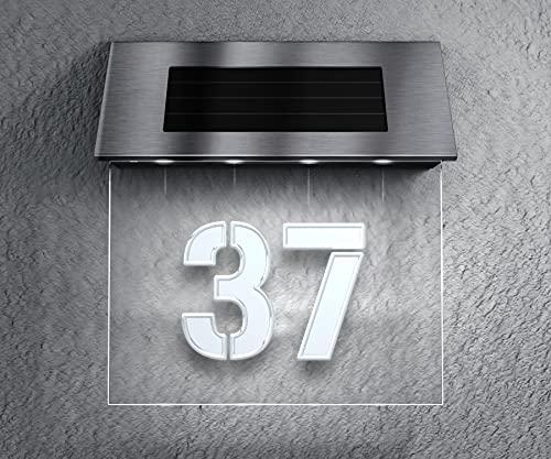 Metzler Solar Hausnummer - inkl. Hochkapazitäts-Akku 2700mAh -...