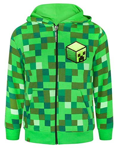 Minecraft Creeper Boy's Hoodie (13-14 Years), Grün