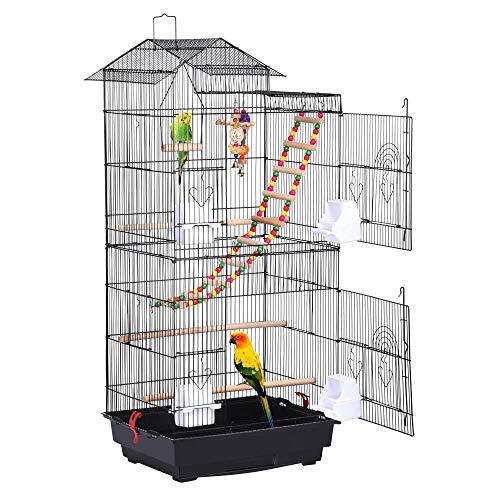 Yaheetech Vogelkäfig mit Vogelspielzeuge Käfigspielzeug...