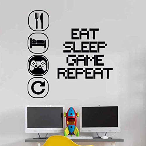 Eat Sleep Play Kinderzimmer Wandaufkleber Mural Vinyl Decal...