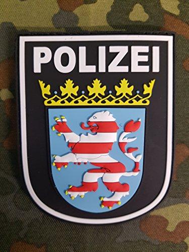 ATG Ärmelabzeichen Polizei Hessen 3 D Rubber Patch (Farbig)