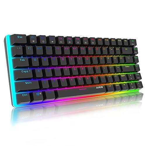 Mechanische Tastatur Gaming RGB Beleuchtung Blau Schalter 82...