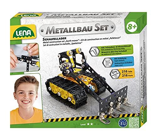 Lena 42674 - Metallbau Set Schaufellader mit 216 Teilen, Metall...