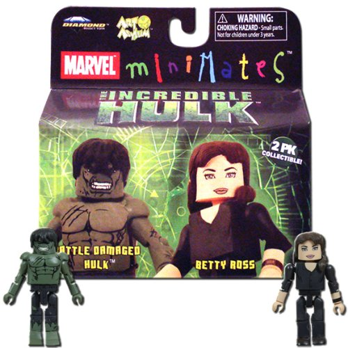 Marvel Minimates Incredible Hulk 2er-Pack: Battle Damaged Hulk & Betty Ross