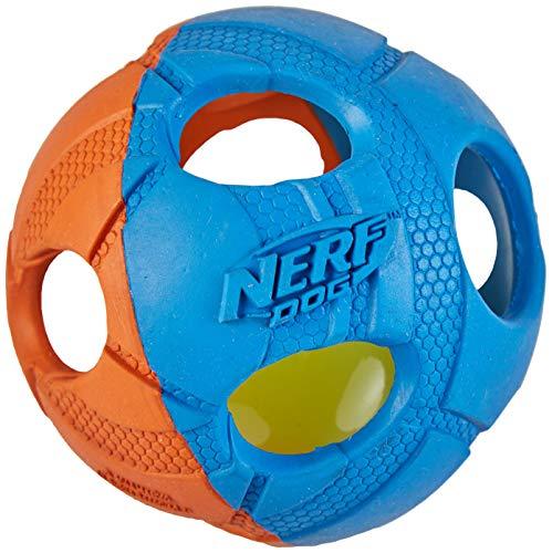 Nerf Dog Hundespielzeug LED Ball, orange/blau, 8,7cm