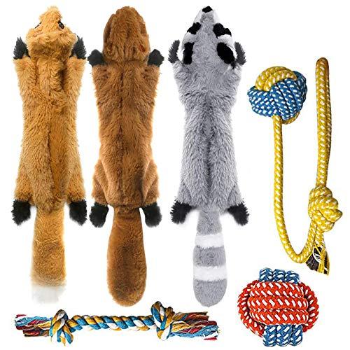 Peteast hundespielzeug,6 Stück Hund Quietschende Kauen Spielzeug...