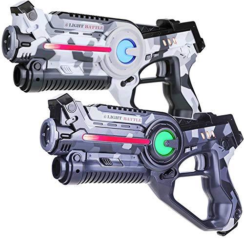 Light Battle Active Laser Game Set - 2X Laserpistole (camo grau,...