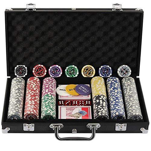 Display4top Pokerkoffer 300 Chips Laser Pokerchips Poker 12 Gramm...