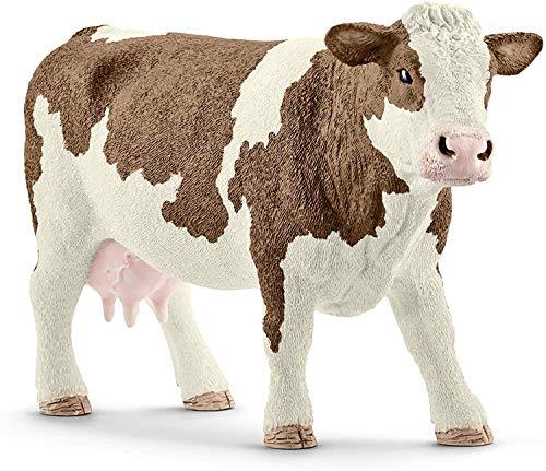 Schleich 13801 FARM WORLD Spielfigur - Fleckvieh Kuh, Spielzeug...