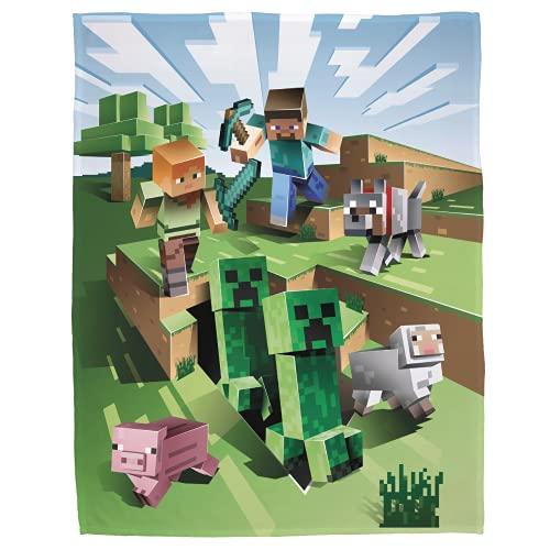 Minecraft Kuscheldecke 160x200 cm · Coral Fleece-Decke Minecraft...