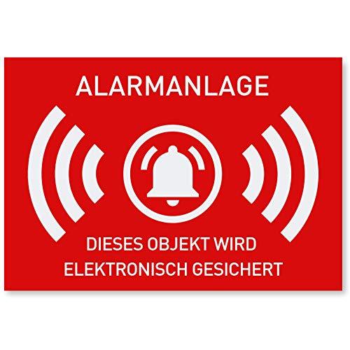 12 x Aufkleber Alarmgesichert (Klein - 7,4 x 5,2cm) - Schutz vor...