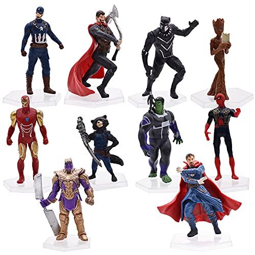 Hilloly Cake Topper, 10 Stück Superhelden Avengers Figuren...