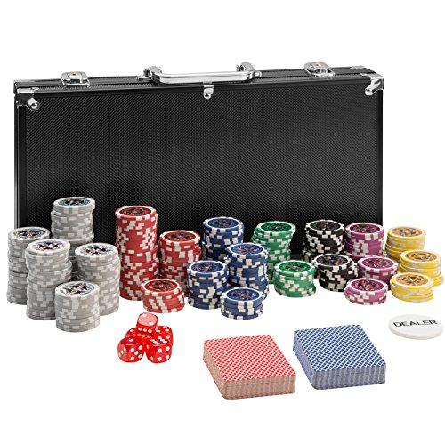 TecTake 402558 Pokerkoffer Pokerset mit Laser Pokerchips im Alu...