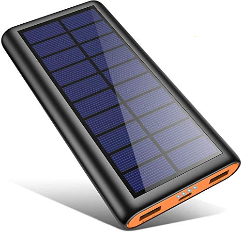 Solar Powerbank 26800mAh, HETP -Orange Neuestes Solarladegerät...
