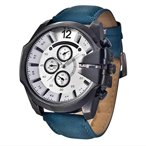 OLUYNG Armbanduhr Herren Armbanduhr Mode Gürtel Quarz Uhr...
