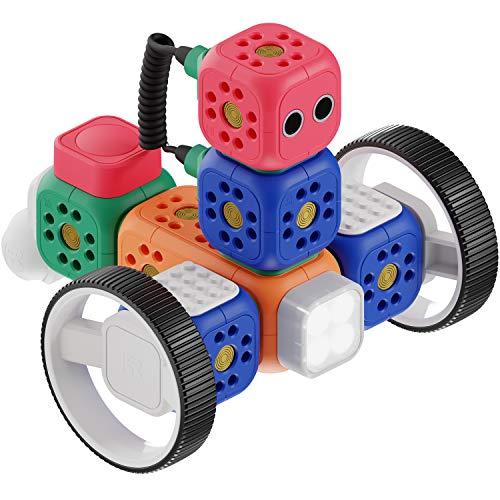 Robo Wunderkind Lernroboter für Kinder ab 5 Jahren - Lego-kompatibler Robotik Baukasten mit...