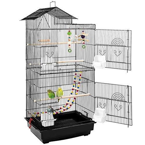 pedy Vogelkäfig mit Vogelspielzeuge Vogeltreppe aus Metall...