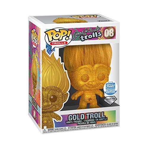Funko Pop! Trolls: Good Luck Trolls – Diamond Collection Gold...