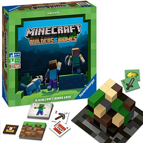 Ravensburger Familienspiel Minecraft Builders & Biomes, Gesellschaftsspiel für...