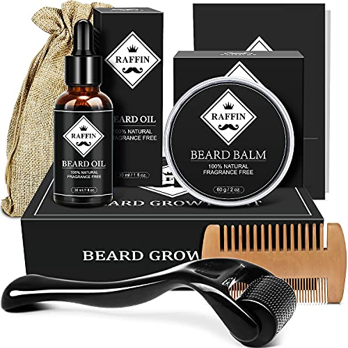 AOVSHEY Bartöl 60ML Beard Oil Bartwuchsöl, Bartwuchsmittel für...