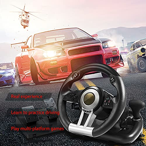 Miouldram 【Gaming Wheel mit Pedal Kompatibel】 Das Lenkrad ist...