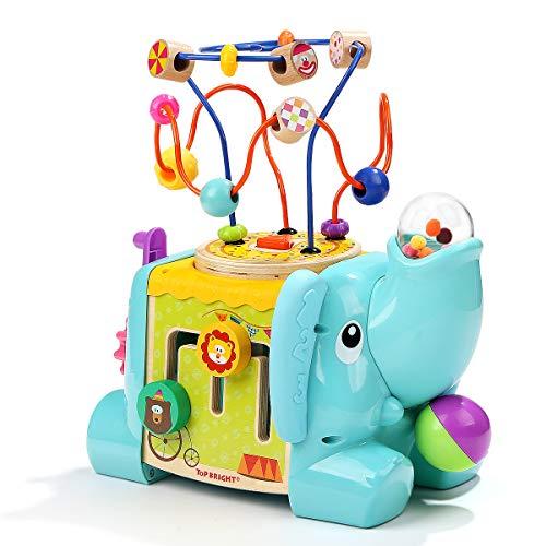 TOP BRIGHT Aktivitätswürfel 5-seitiger Elefant Baby-Aktivitätstisch ab 1 Jahr -...