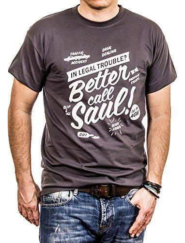 Breaking Bad T-Shirt Call Saul grau Größe L
