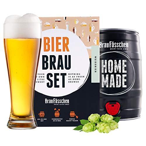 braufaesschen   Bierbrauset zum selber brauen   Weißbier im 5L...