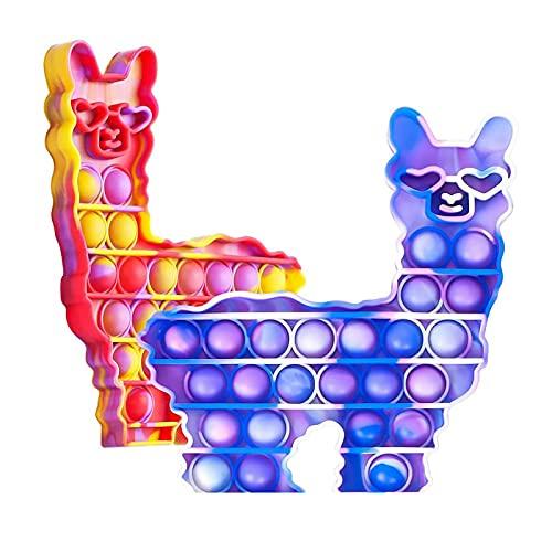 Push Pop Spielzeug für 2 Stück Regenbogen Pop Bubble Anti...