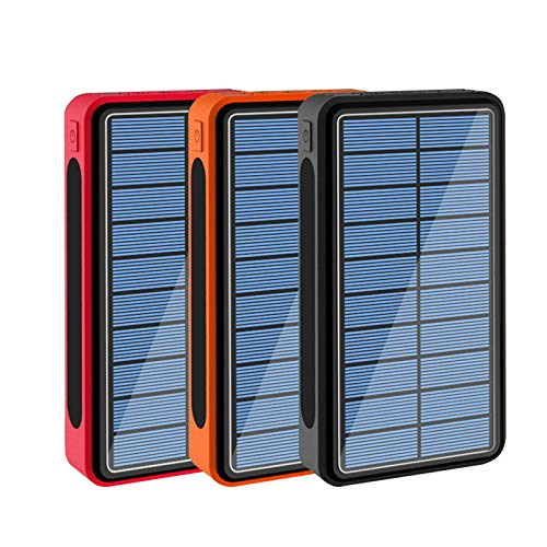 CDBK Wireless Solar Powerbank 100000 mAh, Solar Power Bank mit 5...
