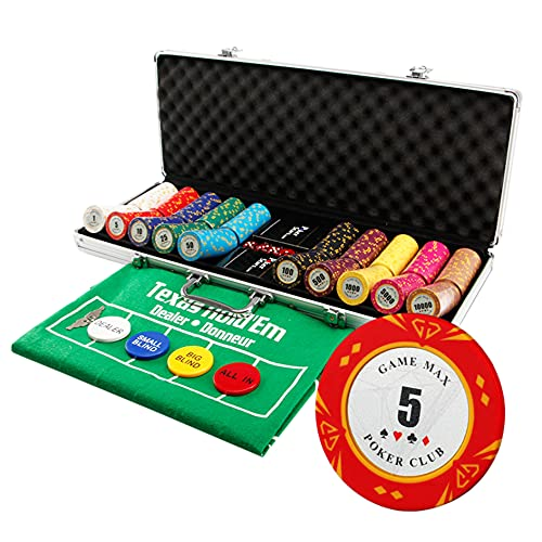 YYHJ Pockerkoffer pokerchips,500 Laser-Chips Pokerset,Poker...