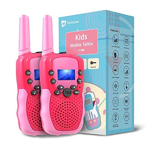 TekHome Spielzeug Mädchen 3 4 5 6 7 Jahre Walkie Talkie Kinder...