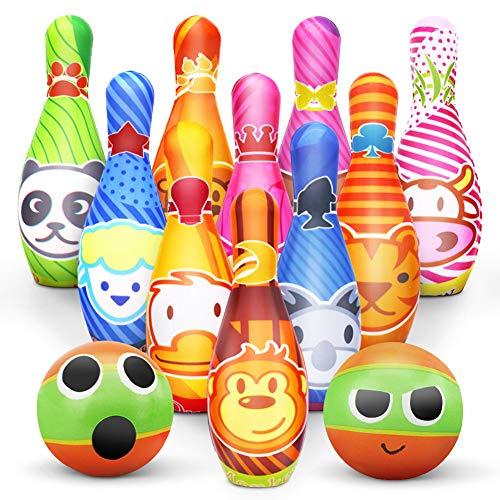 Kegelspiel für Kinder Bowling Ball Set mit 10 Kegel und 2 Bälle...