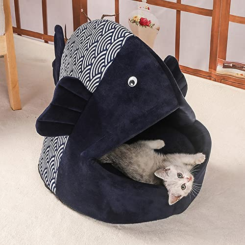 Nyescasa Katzenbett für Katzen und Klein Hunde, Fischform 50 x...