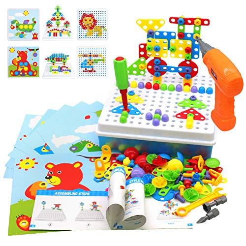 Akokie Steckspiel Montessori Spielzeug mit Bohrmaschine...