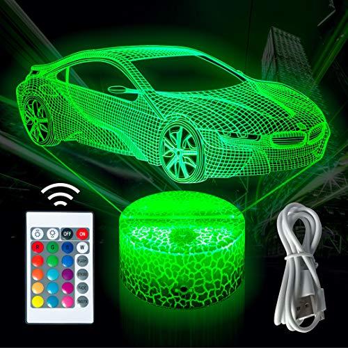 LED 3D Lampe 16 Farben Touch Schalter Nachtlicht mit...