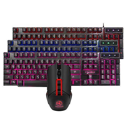 Suiyue Tech. Kabelgebundene LED-Gaming-Tastatur und -Maus,...