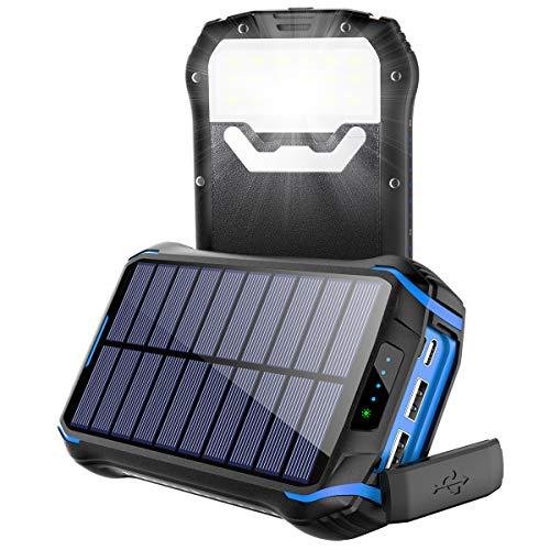 Powerbank Solar Wasserdicht 26800mAh Tragbares Handy...