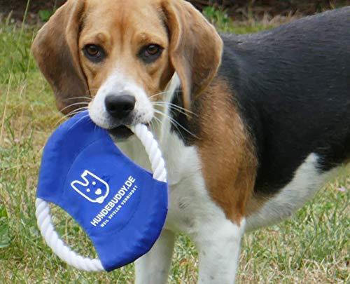 Frisbee für Hunde - Hundespielzeug aus Baumwollstrick -...