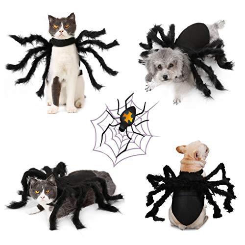 Idepet Haustier Hund Halloween Kostüm Hund Umhang Fledermaus...