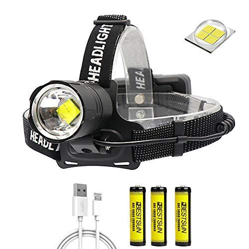 XLENTGEN 10000 Lumen Stirnlampe LED Wiederaufladbar Kopflampe,...